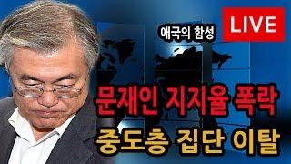 신의한수 생중계 18.08.20 / 문재인 지지율 폭락, 중도층 집단 이탈