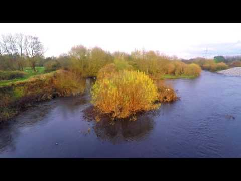 River Mersey and Urmston Meadows From Above