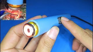 How to make a hot air soldering iron from 12V car cigarette lighter