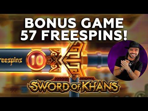 Roshtein Sword of Khans 57 Freespins - Top 5 Online Casino Big Win in Slots