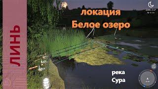 Русская рыбалка 4 - река Сура - Линь в озере