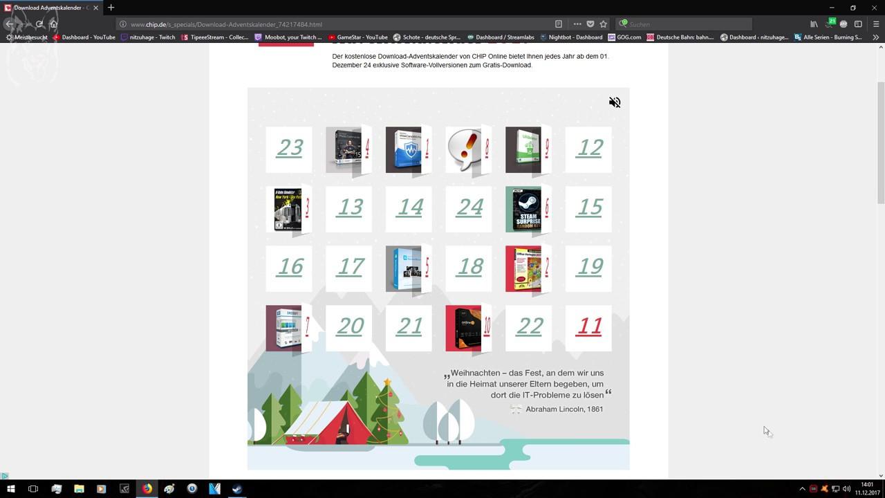 Chip De Weihnachtskalender.Chip De Adventskalender 2017 Tür Nr 11