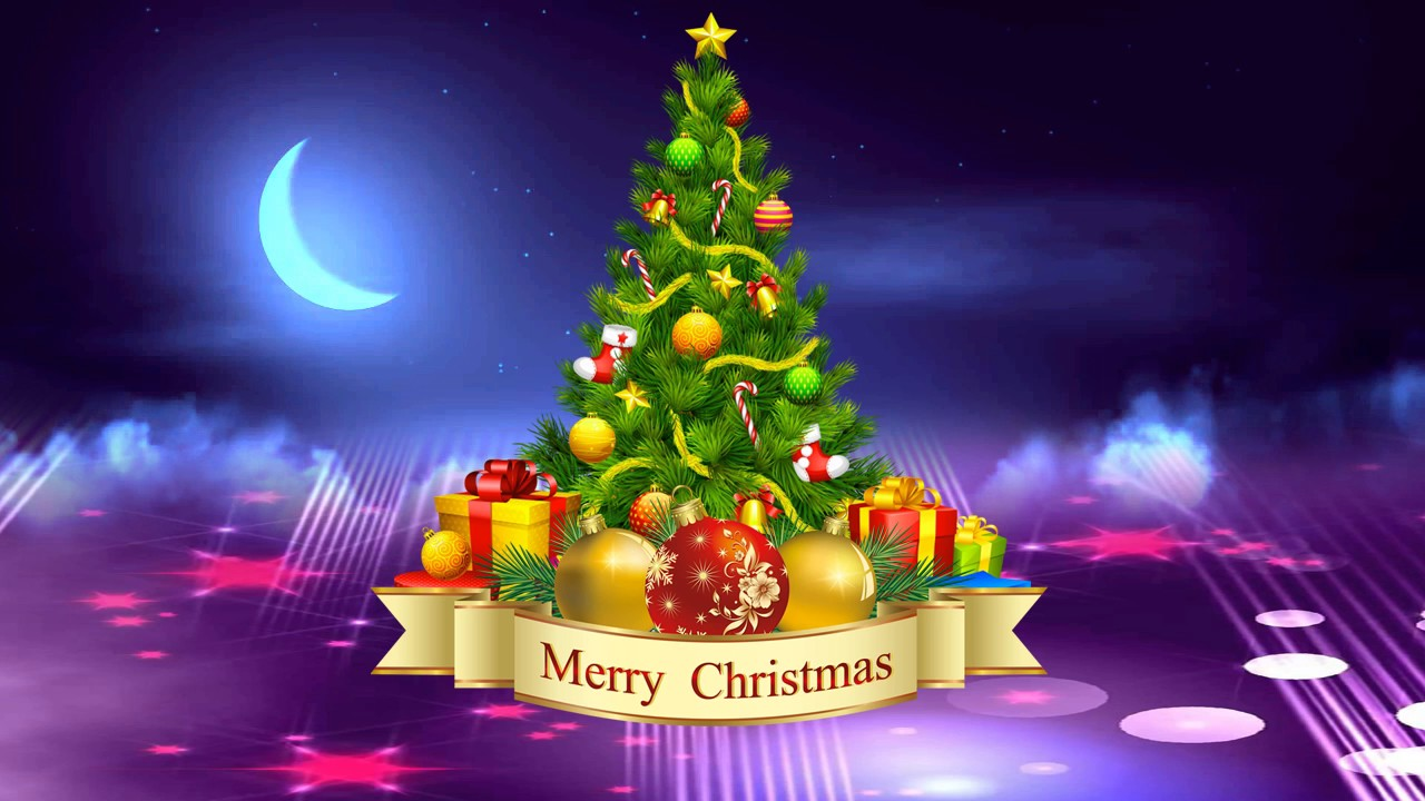 Merry Christmas Wishes & Whatsapp Background Snow Animated