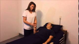 Provide resident with passive range of motion ROM exercises to one elbow and wrist