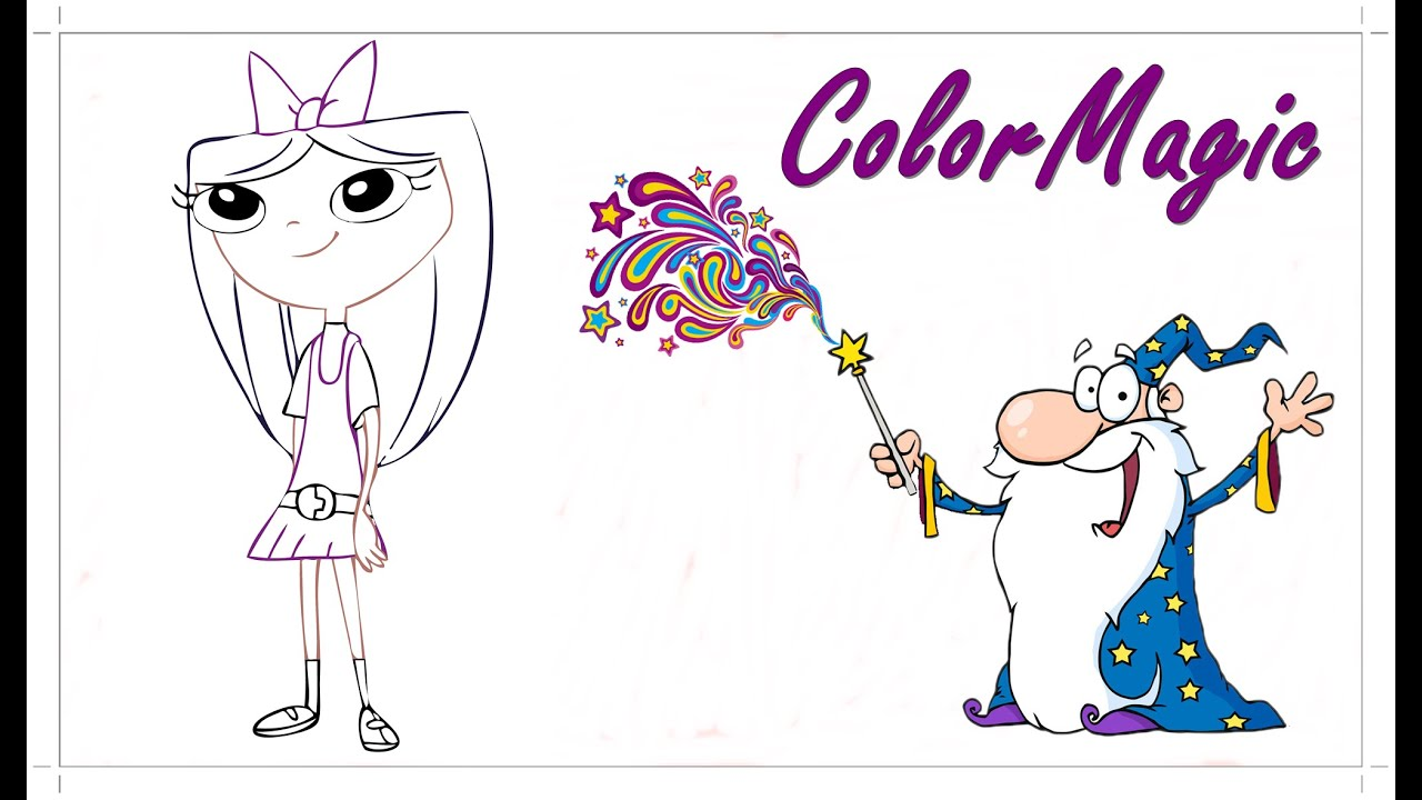 fun isabella phineas and ferb coloring book picture let s