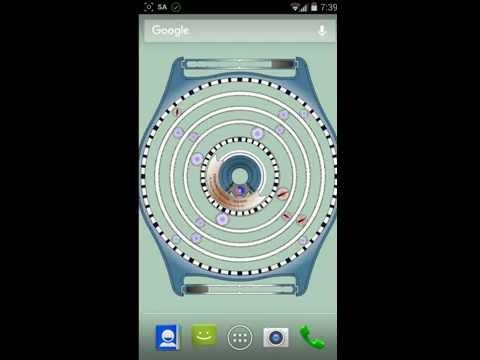 Часы планетарные с генератором, настройка живых обоев Android.