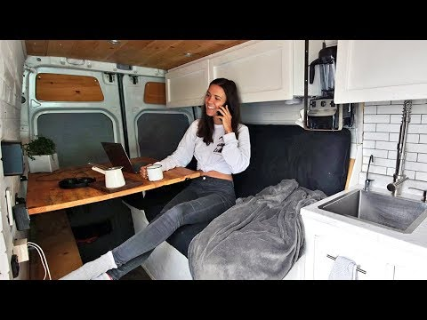 YOUNG ENTREPRENEURS LIVING IN A VAN // van life vlog