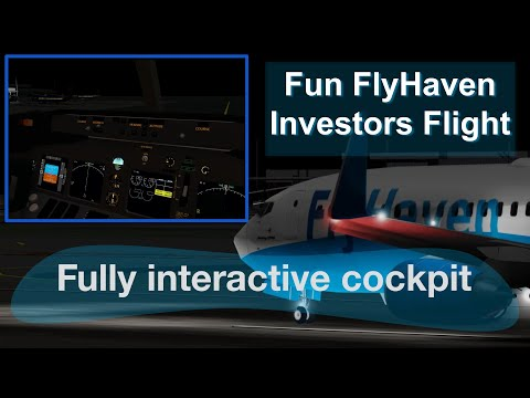 FlyHaven 737 Investors Flight with advanced technology