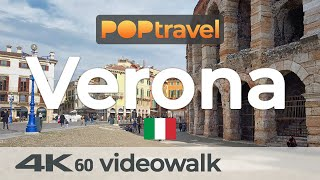 Walking in VERONA / Italy - All Around Old Town and Piazzas - 4K 60fps (UHD)