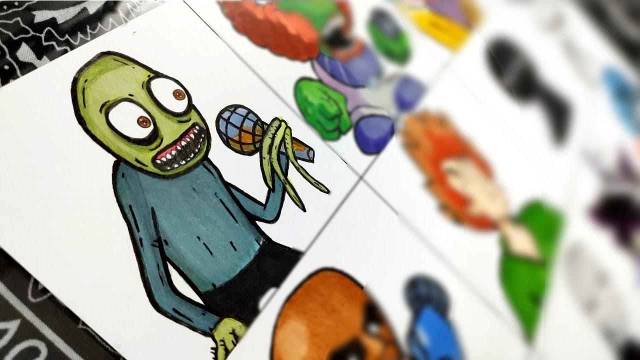 Desenhando Mods FRIDAY NIGHT FUNKIN PARTE 4