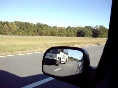 Greyhound Bus Bleeker, Alabama heading down Hwy. 280/431. 10/30/2010.