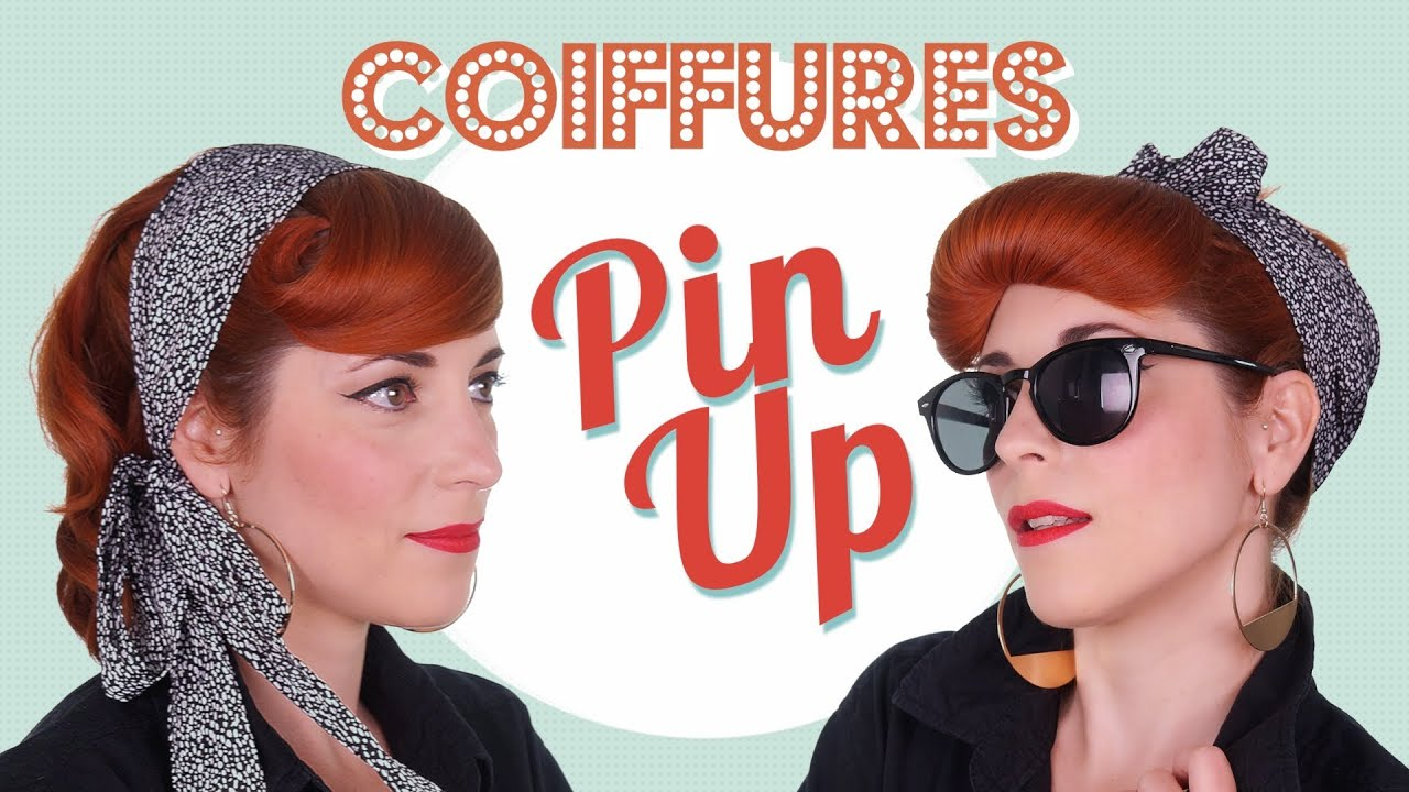 Coiffures Pin Up 1 style, 2 look