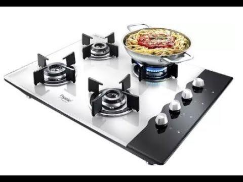 742a8b19e Prestige gas stove 4 burner glass top review - YouTube