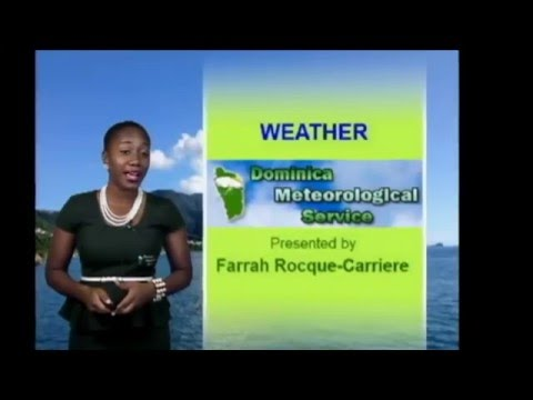 Dominica Weather Presenters from the Dominica Meteorological Service