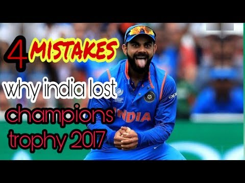 4 big mistakes by kohli. India vs pakistan champions trophy 2017. pakistan win. Hardik pandya sixes.
