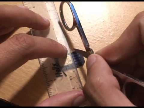 How to Cut Sim Card to Micro Sim Card Size for a Samsung Galaxy S3 iPhone 4S iPad using Scissors