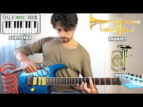 Instruments imitations on guitar 2 (using an air compressor)