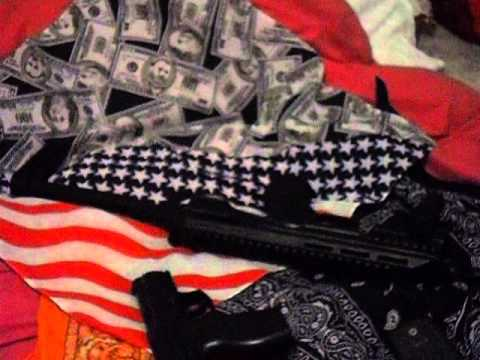 proof about my life style and me as a gangsta rapper paccing then guns i stay strap up and my very o