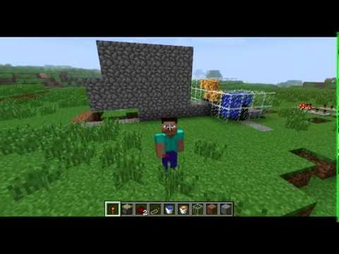 Minecraft self-building/repairing House using piston mod and