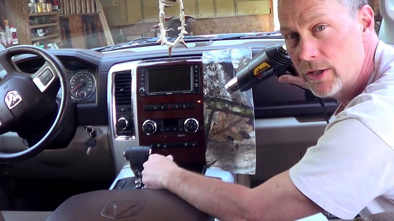 Mossy Oak Graphics - Interior Dash Skin Install - YouTube