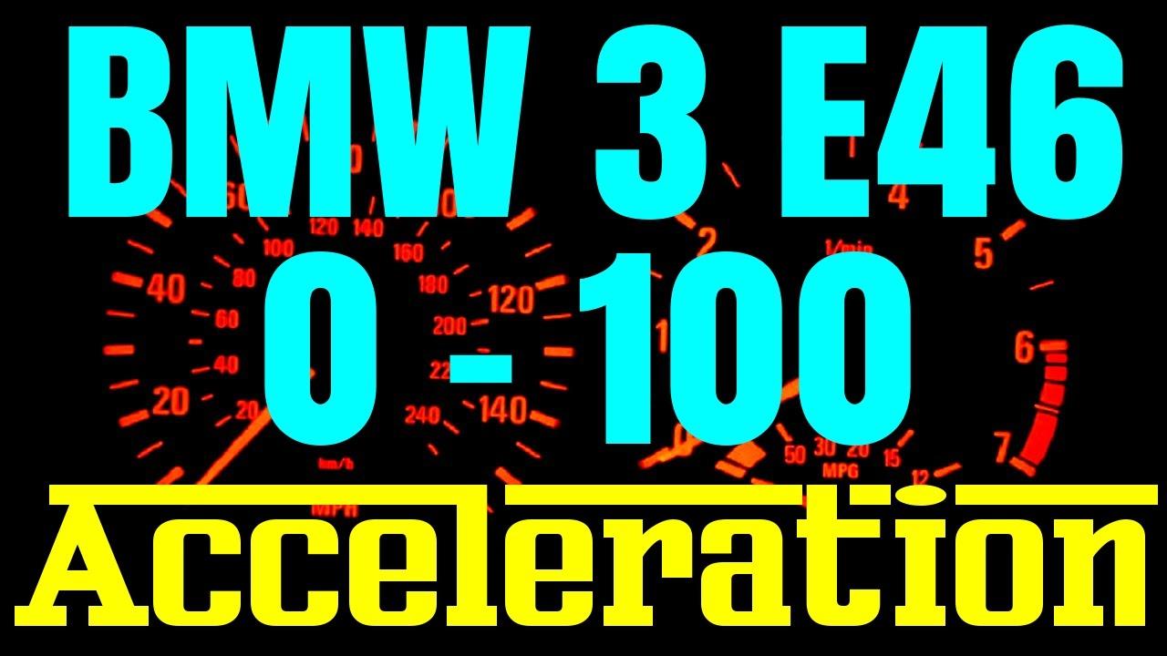 BMW 3 E46 0100 Acceleration Statistics  All engines  330i 330d