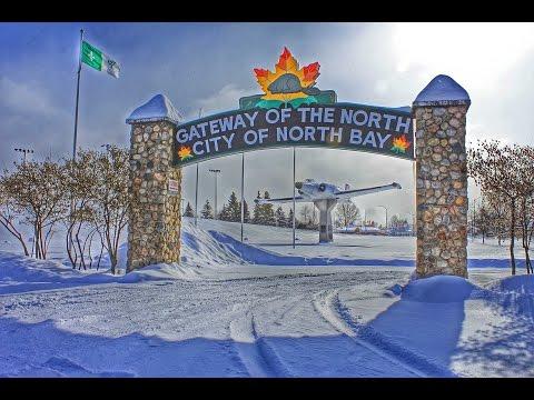 North Bay, Ontario - Main Street Drive-Thru in Winter
