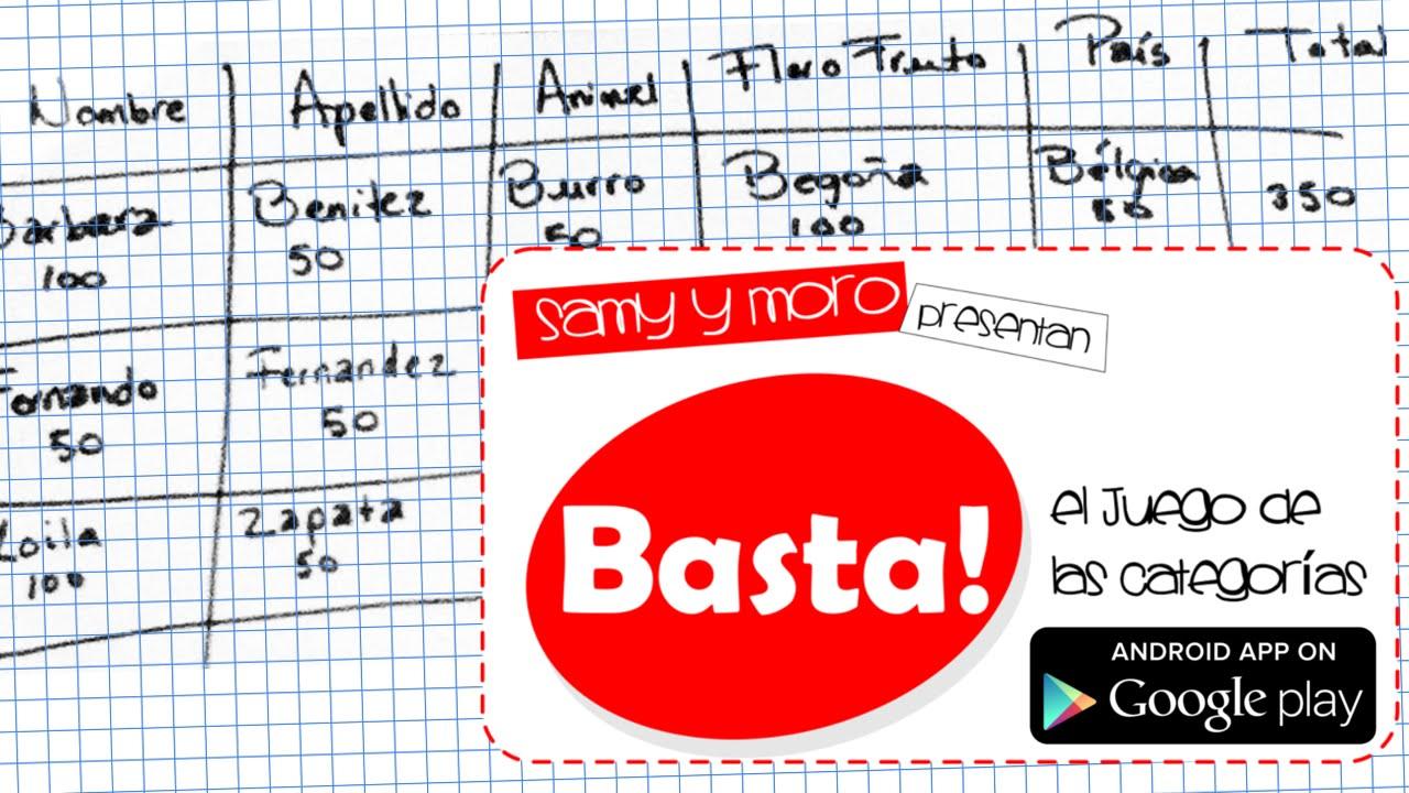 Basta El Famoso Juego De Palabras Para Android Stop Scattegories
