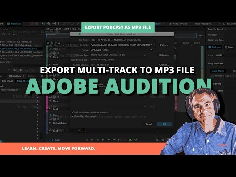 How To Export Podcast As .mp3 file in Adobe Audition
