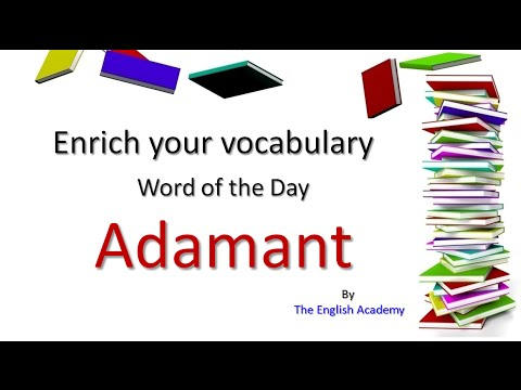 Adamant  Meaning | Enrich your English Vocabulary | Word of the Day