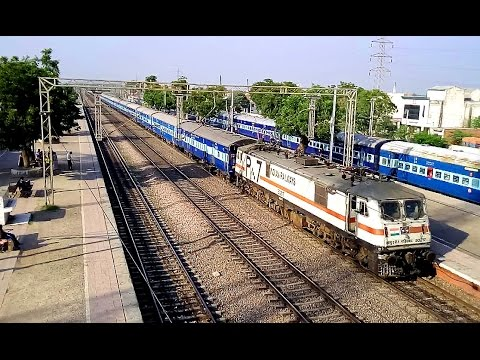 Trains speeding through Resurgent Asaoti : New Delhi - Mathura route