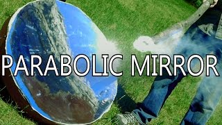 How To Make Parabolic Mirrors From Space Blankets