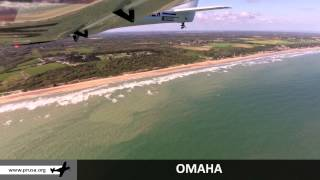 Aerial video of the D-Day landing beaches in Normandy