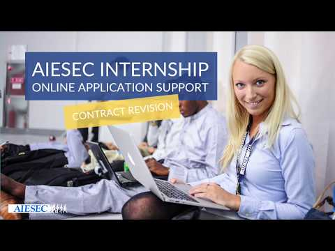 AIESEC Internship Online Application Support- Contract Revision