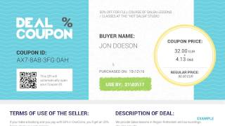 Deal coupon components