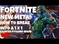 *NEW* FORTNITE | HOW TO BREAK INTO A 1 BY 1 (Counter Pyramid Spam)