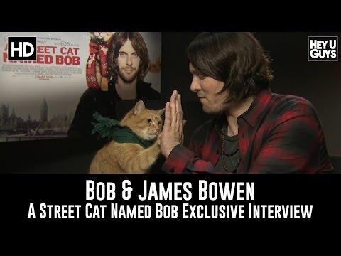 James Bowen & Bob The Cat Exclusive Interview - A Street Cat Named Bob