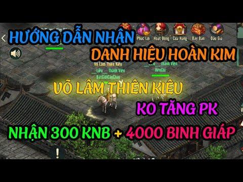 Hướng dẫn nhận Danh Hiệu Hoàn Kim Võ Lâm Thiên Kiêu trong Võ Lâm Truyền kỳ 1 Mobile