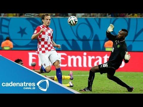 Croacia golea 4-0 a Camerún y se jugará con México el pase a octavos de final