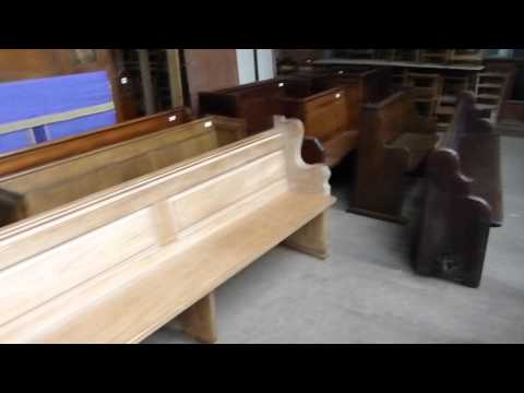 Antique Church Pews and Chairs for sale