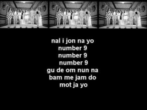 T-ARA(티아라) - [Number 9_넘버나인] Easy/Simple Lyrics