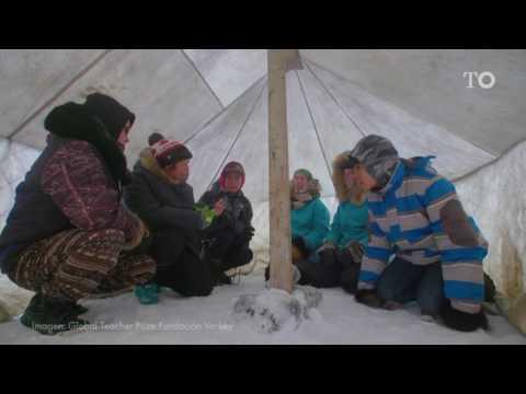 La mejor profesora del mundo enseña a jóvenes Inuit del Ártico
