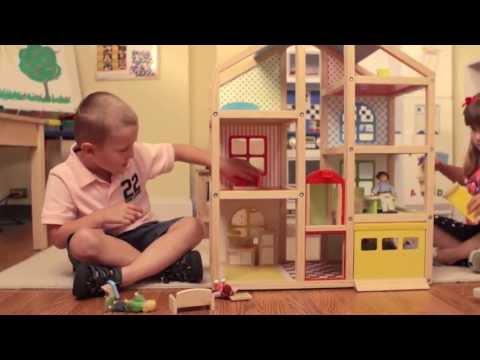 Hi Rise Dollhouse And Furniture Set By Melissa Doug Youtube