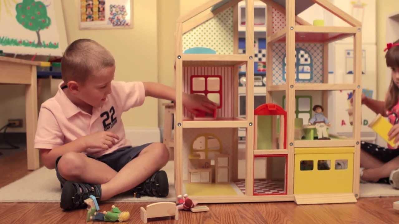Hi Rise Dollhouse And Furniture Set By Melissa Doug