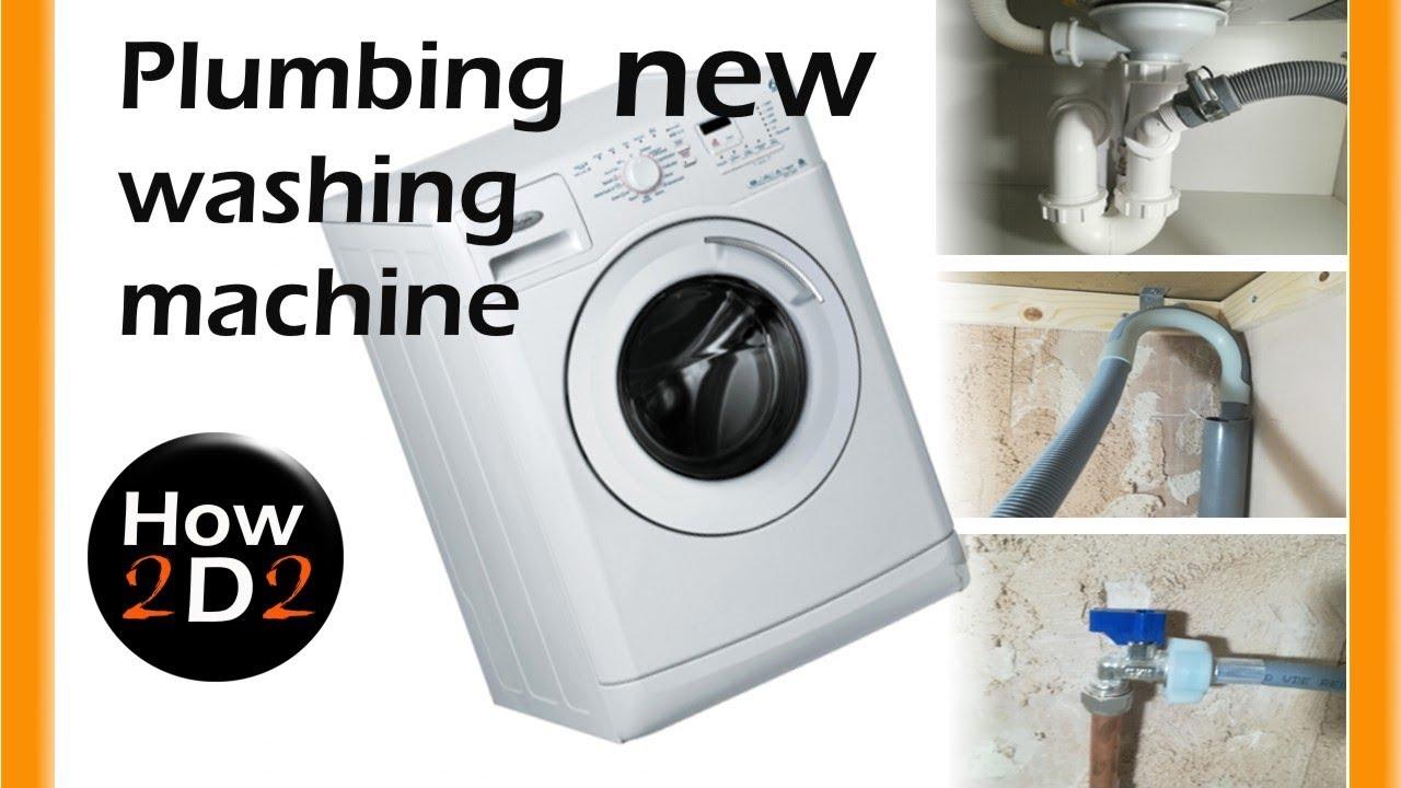 New Washing Machine Plumbing Installation Water Supply And Waste Youtube