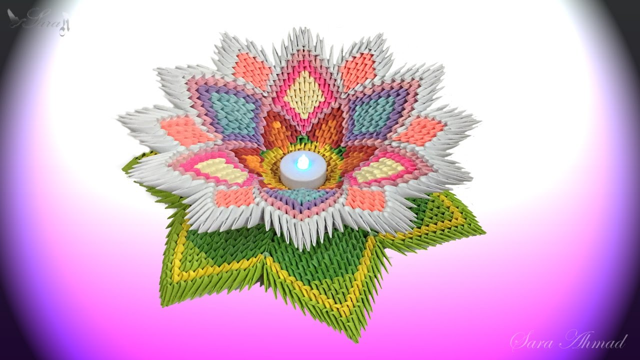 How To Make 3D Origami Tulip Flower   DIY Paper Tulip Flower Home ...   720x1280