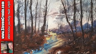 Using an old photo of Sutton Park to paint a watercolour
