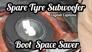 DIY Stepney Subwoofer Box For Small Cars | Subwoofer In A Tyre | Save Boot Space