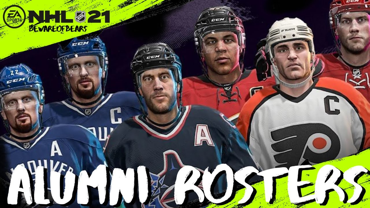 NHL 21 | All Alumni Rosters & Ratings - YouTube