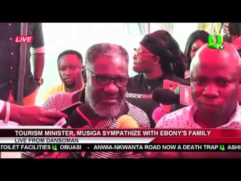 Tourism Minister, MUSIGA sympathize with Ebony's Family