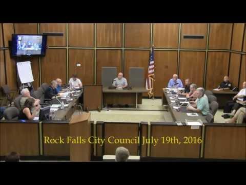 07 19 2016 Rock Falls Illinois City Council